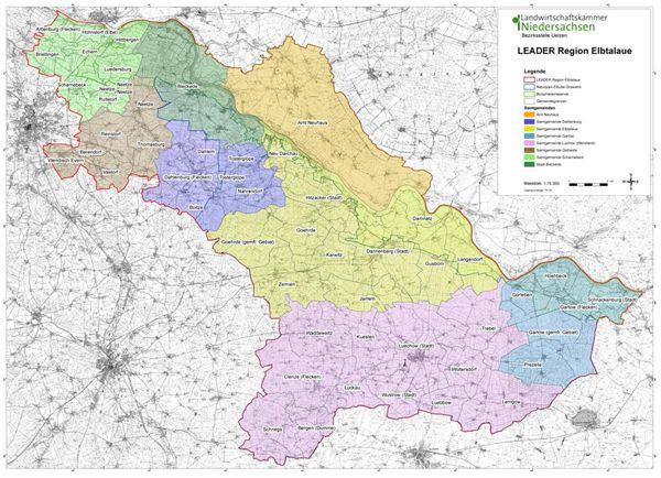 Kulturelle Landpartie Karte.Samtgemeinde Elbtalaue Gebietsabgrenzung